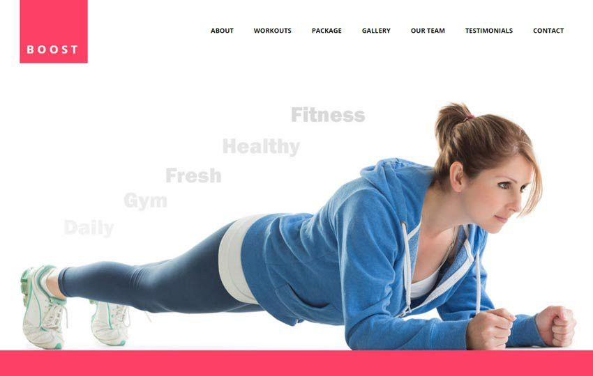 Best Fitness Gym HTML5 Website Template - WebThemez