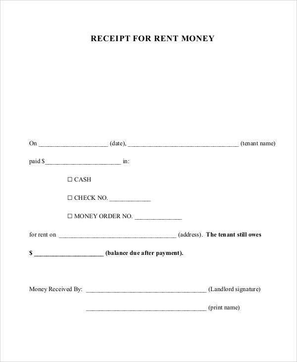 Printable Payment Receipt