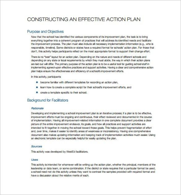 Simple Action Plan Template – 13+ Free Sample, Example, Format ...