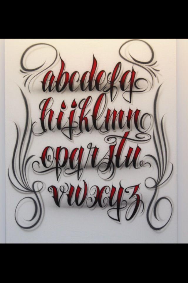 Airbrush Lettering Font Fancy Script Lower Case
