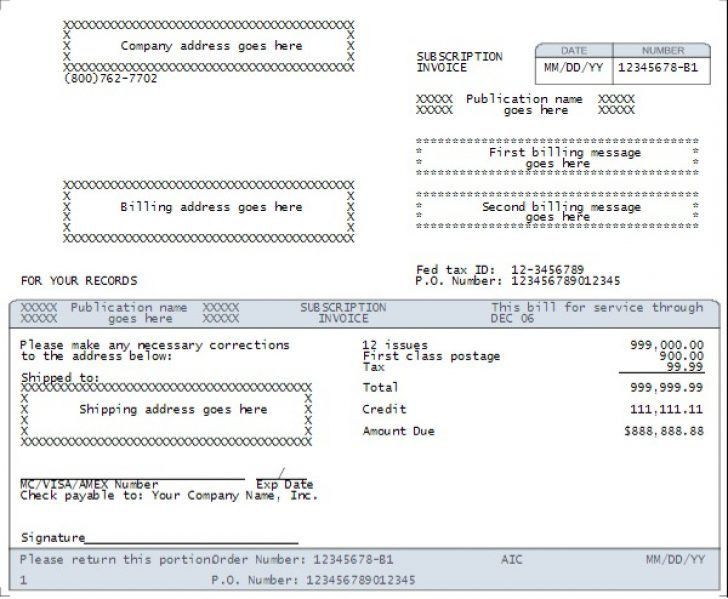 recurring credit card authorization form template