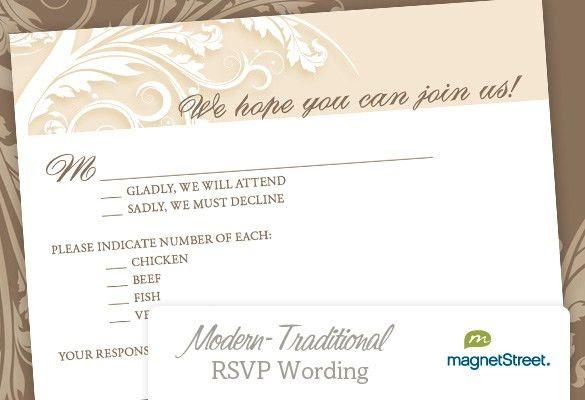 Wedding Invitation Rsvp Wording | dancemomsinfo.com