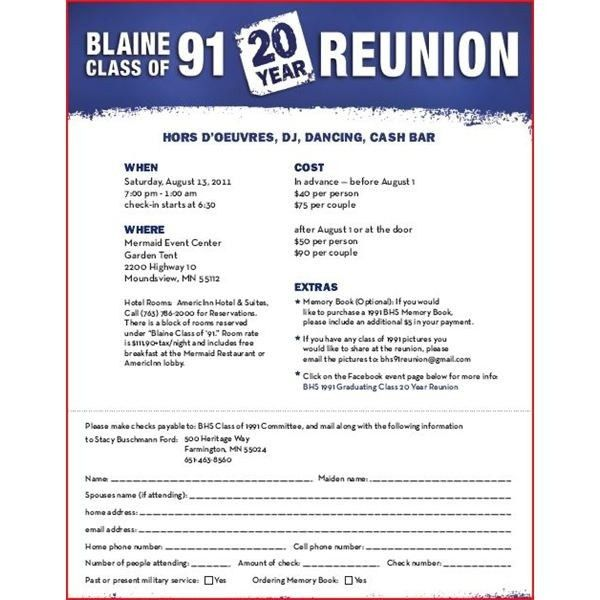Class Reunion Invitations Template | Resume Builder