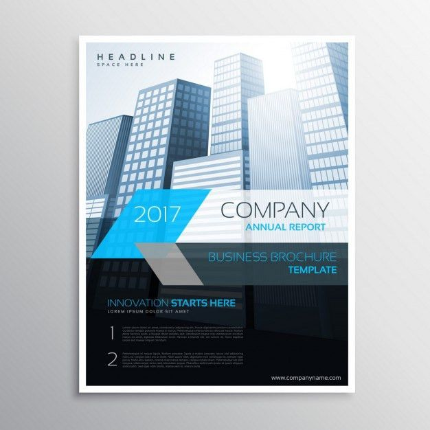 Modern company flyer with buildings Vector | Free Download