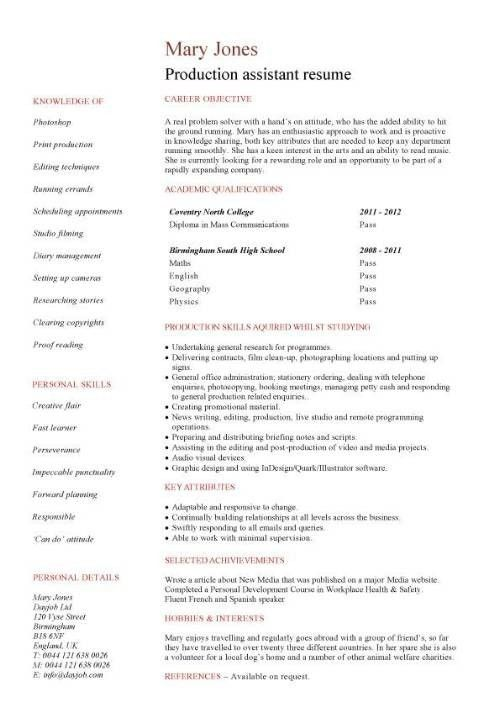 Sample Resume No Work Experience High School Resume And Cover ...