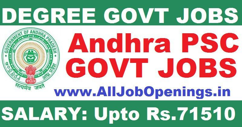 Andhra Pradesh PSC Recruitment for Assistant Statistical Officer ...