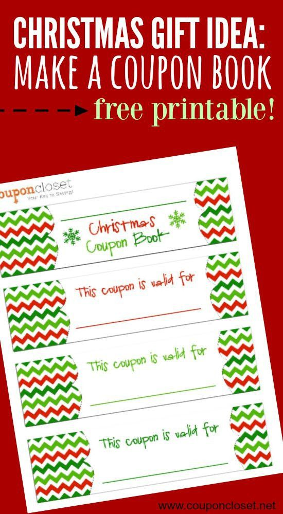 FREE Christmas Coupon Book Printable - Homemade Gift idea - Coupon ...