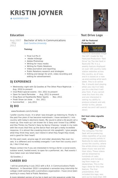 Public Relations Manager Resume samples - VisualCV resume samples ...