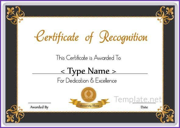 CERTIFICATE OF RECOGNITION | Jobproposalideas.com