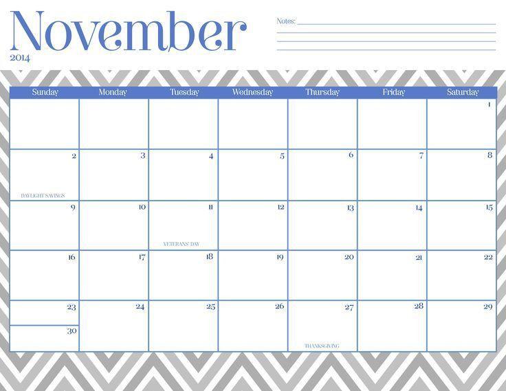 56 best November 2015 Calendar images on Pinterest | November 2015 ...