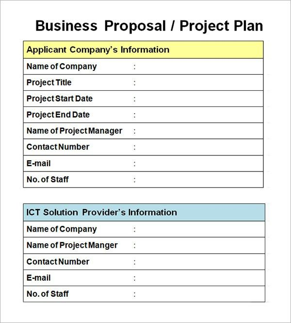 Best Photos of Business Project Proposal Template - Business ...