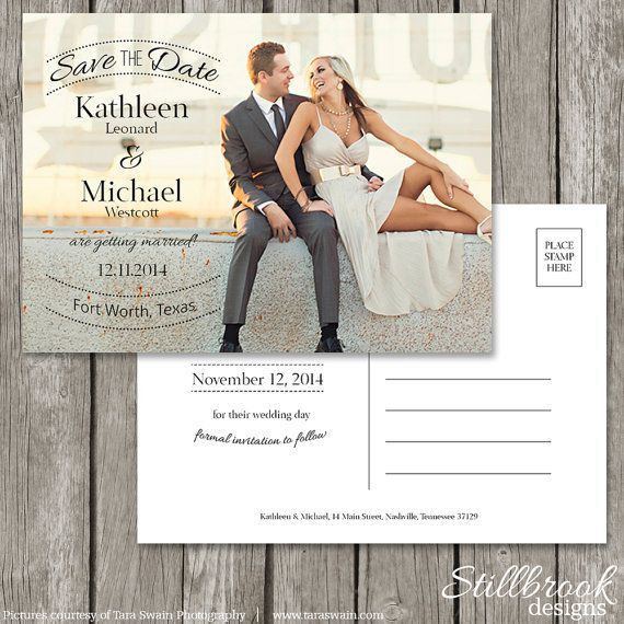 awesome designing save the date postcard templates for wedding ...