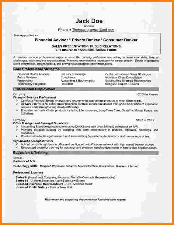 5+ financial advisor resume | Agenda example
