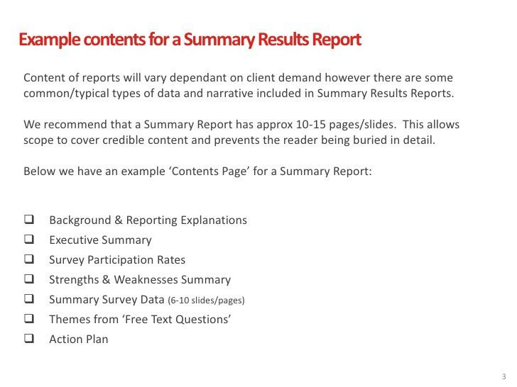 Exit Survey Reporting Examples