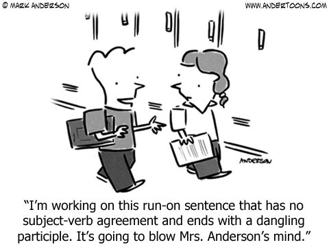"Education Cartoon 6553 | ♢""Go-To"" Grammar 