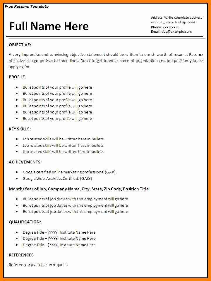 5+ resume sample format download | forklift resume