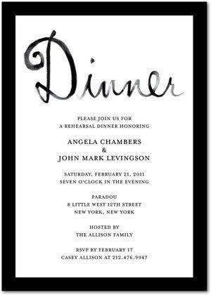 Rehearsal Dinner Invitation Etiquette | badbrya.com
