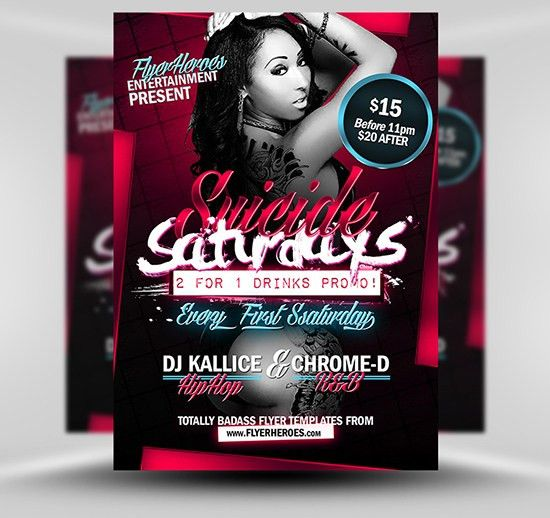 Suicide Saturdays Flyer Template