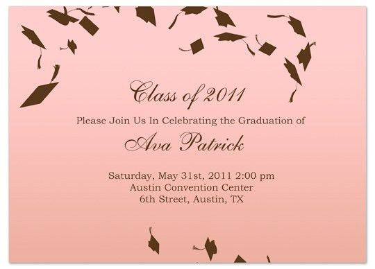 Download Unique Graduation Invitation Announcement Pink Word ...
