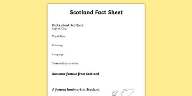 Scotland Factsheet Writing Template - scotland, scotland fact