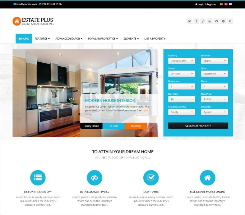 Real estate website templates 80 best real estate website 11 real estate website templates themes free premium pronofoot35fo Choice Image