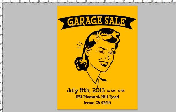 How To: Make a Garage Sale Flyer - Printaholic.com