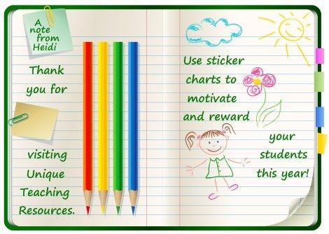 Incentive and Sticker Charts: Uniquely Shaped Sticker Charts and ...