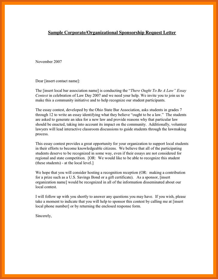 sponsorship request letter | apa examples