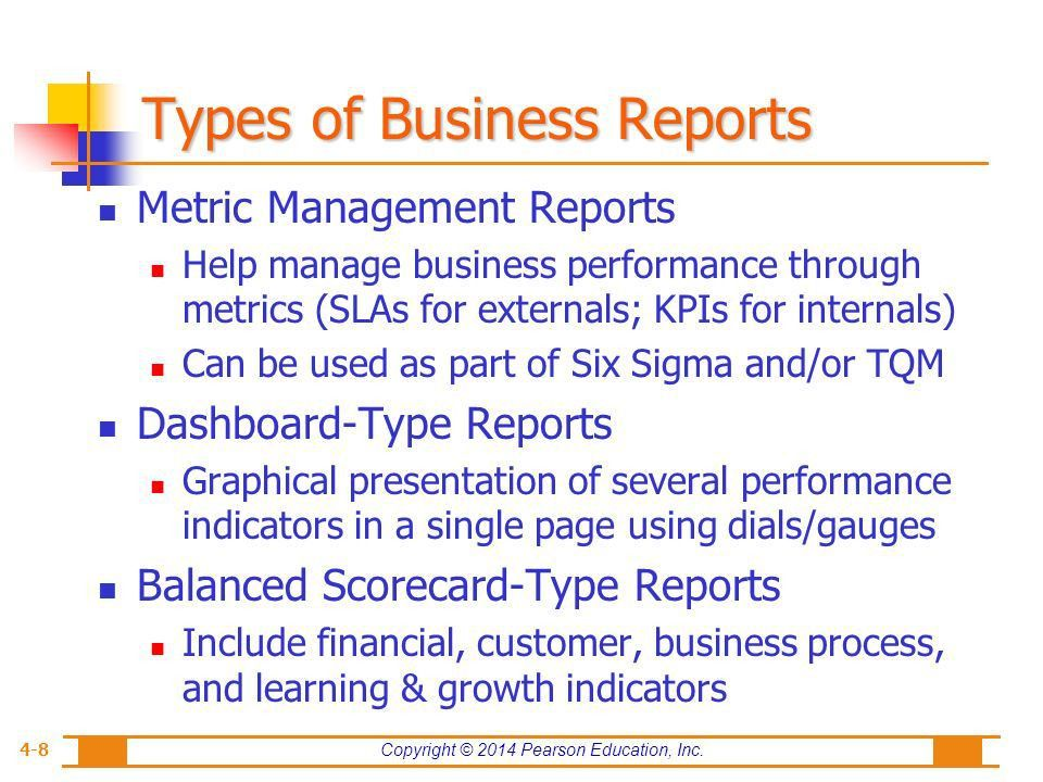Type Of Business Report types of business reports - Gallery Image ...