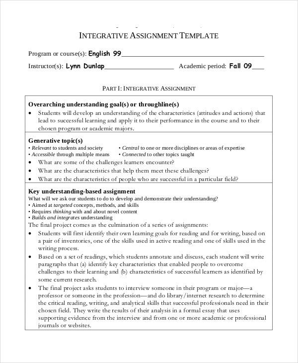 Project Assignment Template - 6+ Free Word, PDF Documents Download ...