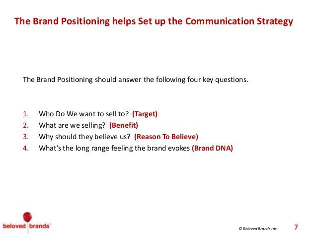How To Write A Brand Positioning Statement | Marketing Strategy ...