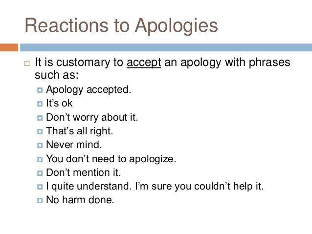 Apologizing interrupting excusing