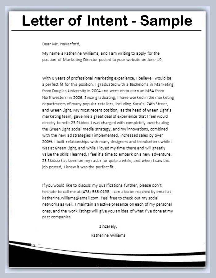 Letter Of Intent Job Position Sample Ulta Career Application ...