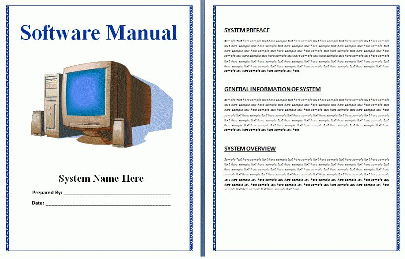 Free Manual Templates | User Manuals | Training Manuals ...
