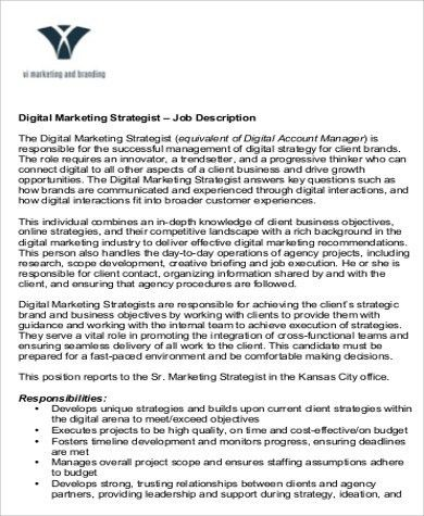 sample digital marketing resume 8 examples in word pdf - Digital Strategist Resume