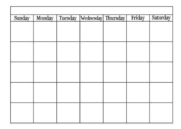 Calendar Template | blank calendar printable