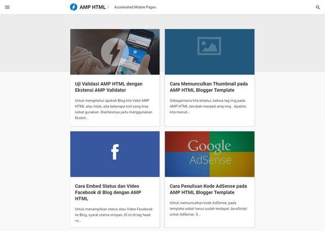 AMP HTML Responsive Blogger Templates - FLYTemplate