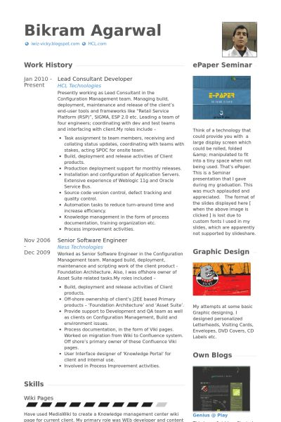 Lead Consultant Resume samples - VisualCV resume samples database