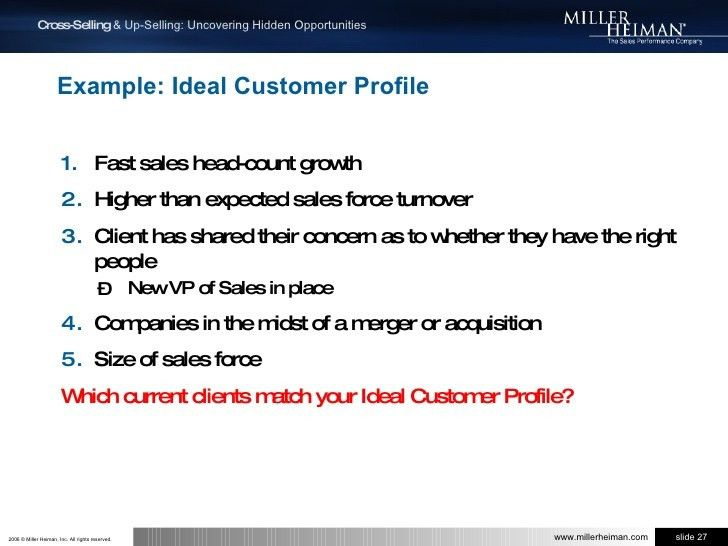 Cross-Selling & Up-Selling with Miller Heiman