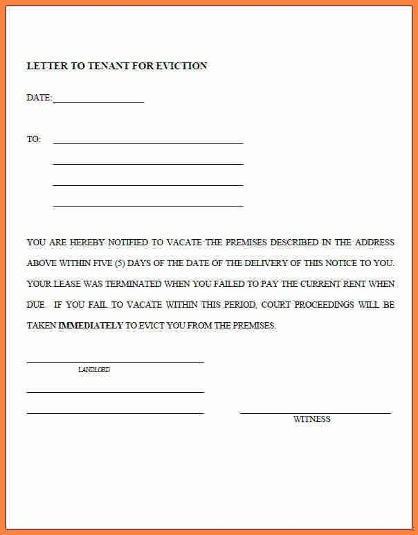 Legal Forms Eviction Notice [Template.billybullock.us ]