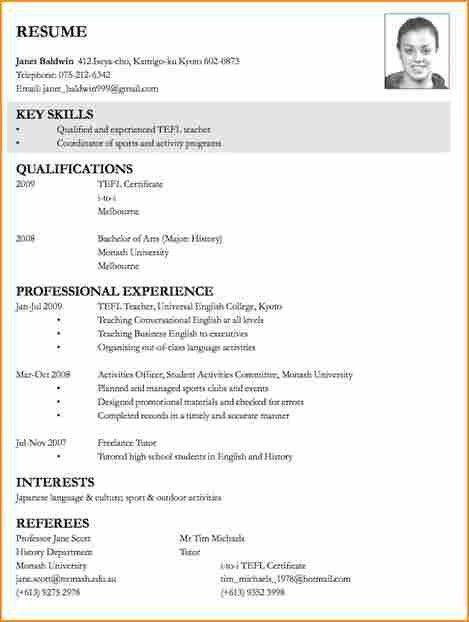 14+ format of c v for job application - Basic Job Appication Letter