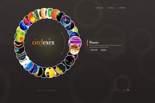 35 Striking Examples of Circular Elements In Web Design - SloDive