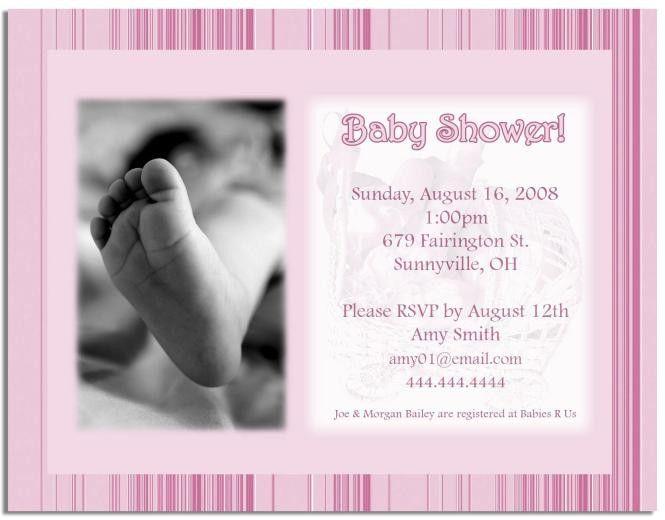Baby Shower Invitation Wording Samples   PaperInvite
