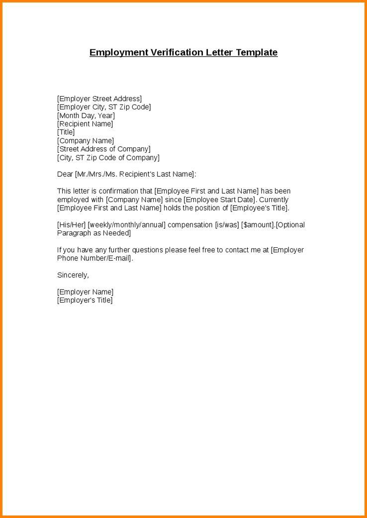 7+ employment verification template | memo templates