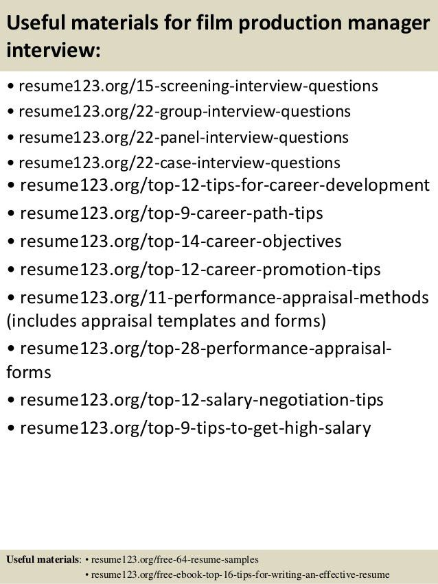 production manager assistant technical director resume samples ...