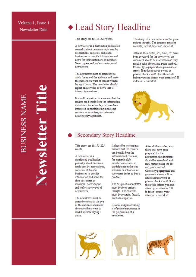 School Newsletter | Free School Newsletter Templates