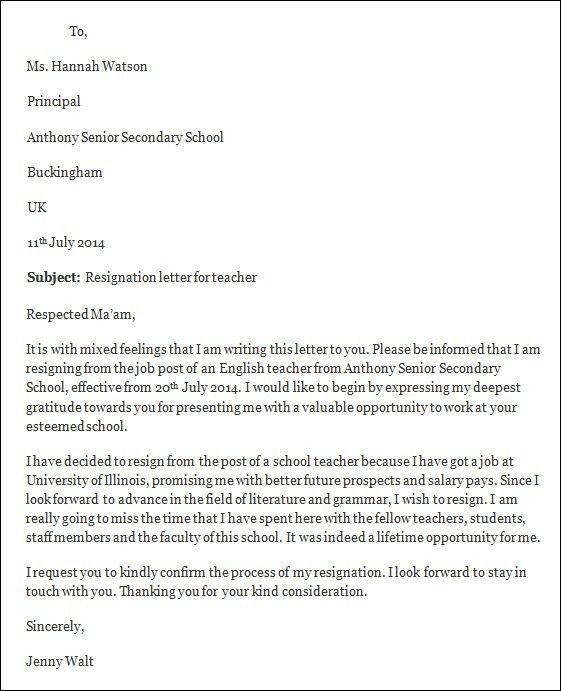 Resignation Letter For New Job. Resignation Letter From A New Job ...