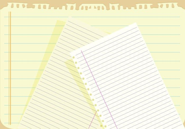Notebook paper background vector - Download Free Vector Art, Stock ...