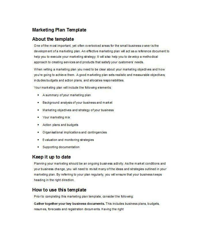 30 Professional Marketing Plan Templates - Template Lab