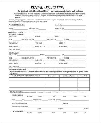 Rent Application Sample - 9+ Free Documents in Word, PDF